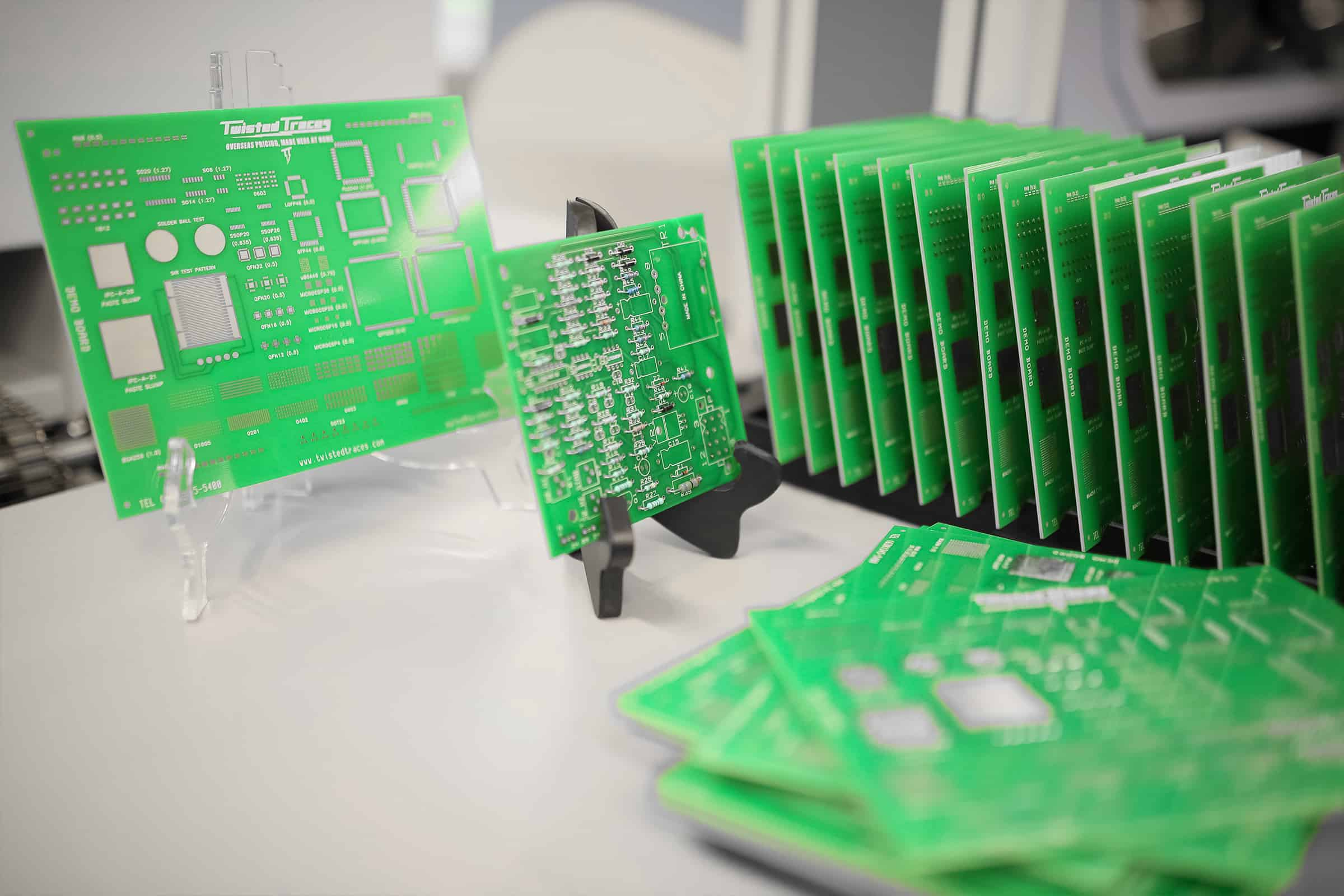circuit boards pictured to demonstrate an example of hardtech product development